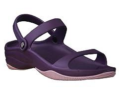 Women's Premium 3-Strap Sandal, Plum / Lilac