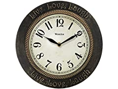 "Westclox 11"" Round Live, Love, Laugh Wall Clock"