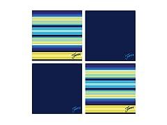 Fiesta Cobalt Cool Stripe Coasters