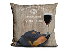 LiLiPi Brand Dog Au Vin Dachshund Pillow