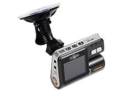 Dual Camera 720p DVR Dash Cam w/ 8GB microSD Card