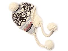 MUK LUKS® Faux Fur Helmet, White/Grey