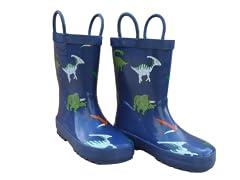 Blue Dinosaurs Rain Boots
