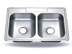 Houzer Glowtone 3322-6BS4-1 Sink