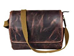Aaron Leather 16-Inch Leather Messenger Bag