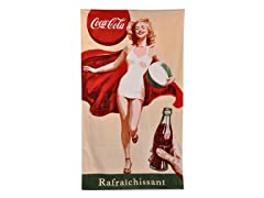 Coke® Retro Girl 40x70 Beach Towel