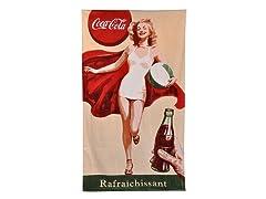 Coke Retro Girl Beach Towel