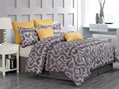Keasby 8 Piece Comforter Set- 2 Sizes