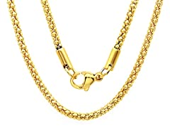 18kt Gold Plated Popcorn Chain