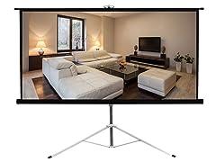 """Floor Standing Portable Projector Screen 59.8""""x 79.9"""""""