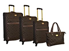 Jacquard 4-Piece Luggage Set