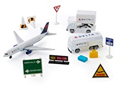 Delta Airlines Die Cast Playset