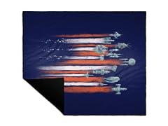 Vintage Sci Fi Camp Blanket