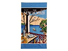 The New Yorker-Sailboat Beach Towel