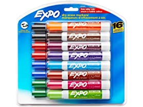 Expo 81045 Low-Odor Dry Erase Markers- 16 Pack