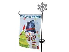 Snowman Flag Stake Light