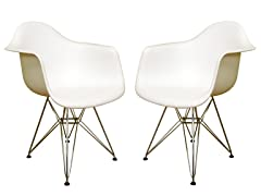 Plastic Chair White 2-PC