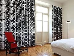 Geometric Black Tiles