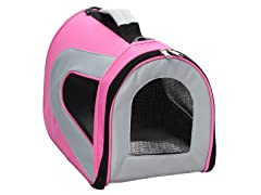 Pink Zippered Mesh Carrier