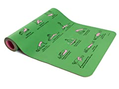 Illustrated Yoga Mat, Green/Pink