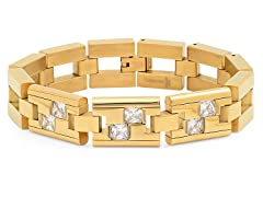 18kt Plated Bracelet w/ Sim. Diamonds