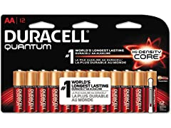 Duracell Quantum AA Batteries - 12 Count