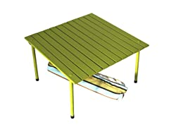 Low Table with Carrying Bag, Green