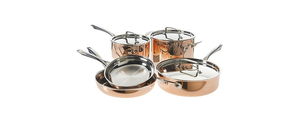 Cuisinart 8 Pc. Tri-Ply Copper Cookware Set