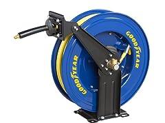 Goodyear 3/8-Inch by 50-Feet Retractable Air Hose Reel