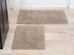 100% Cotton Bath Mat Set