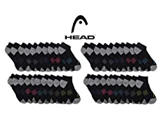 HEAD Women's Cushioned Socks 20-Pairs