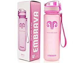 Embrava Best Sports Water Bottle - 18oz