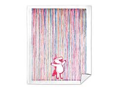 """""""Rainbow Rain!"""" Mink Fleece Blanket"""