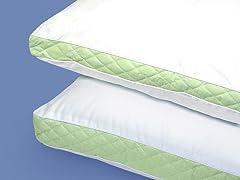 Wellrest Quilted Sidewall 2pk Pillow - Med