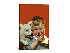 Boy w/Sandwich & Puppy (2-Sizes)