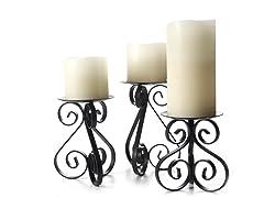Hearthstone Scroll Wire Candleholders