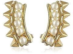 Rebecca Minkoff Gold Pearl Ear Cuffs
