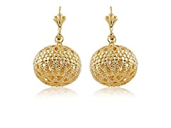 Gold Popcorn Earrings