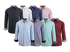 Men's 4Pack Assorted L/S Dress Shirts