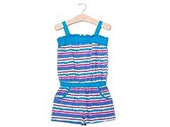 Blue Stripe Knit Romper (2T-4T)