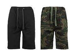 Stretch Twill Jogger Lounge Shorts 2Pk