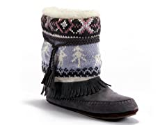 MUK LUKS® Ricki Slipper Boot, Grey