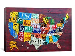 License Plate Map - David Bowman