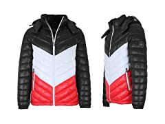 Mens Quilted Hooded Puffer Bubble Jacket