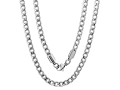 Men's Stainless Steel Cuban Chain Necklace