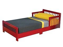 Slatted Toddler Bed- Red