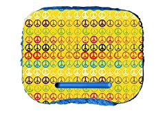 Fuzzy Lapdesk - Peace Wall Yellow