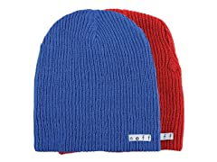 Reversible Beanie, Blue/Red