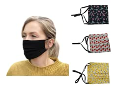 Pleated Washable Face Masks 3-Pack (Your Choice)