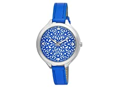 Laura Ashley Slim Band Geo Pattern Watch